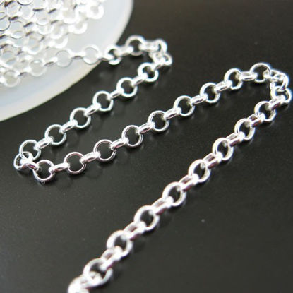 Sterling Silver Chain-Sterling Silver Rolo Chain 2mm Bulk by the foot