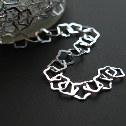 Sterling Silver Chain-Flat Star Chain 5mm - Unfinished Bulk Chain (sold per foot)