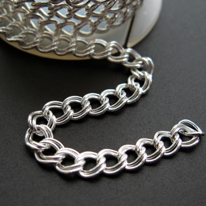 Sterling Silver Chain- 4.5X4 Double Twisted Oval Chain - Unfinished Chain, Bulk Chains (sold per foot)