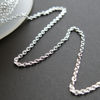 Sterling Silver Chain-Fine Oval Cable Chain 1mm- Unfinished Bulk Chain (sold by the foot)