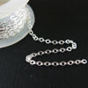 Sterling Silver Chain - Strong Flat Cable 2.3mm - Unfinished Chains, Bulk Chains  (Sold Per Foot)