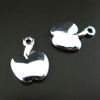Sterling Silver Findings-Cute Tiny Apple Charms (12 by 8mm-5pc)