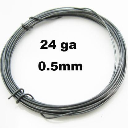 Oxidized Sterling Silver Wire-24Ga Half Hard (sold per foot)