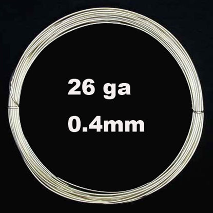 Sterling Silver Wire - 26 ga -0.41mm (sold per 6 feet)