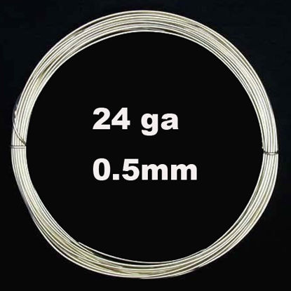 Sterling Silver Wire -24 ga -0.51mm (Sold Per 3 Feet)
