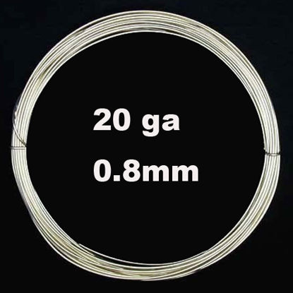 Sterling Silver Wire - 20 ga -0.8mm (Sold Per Foot)