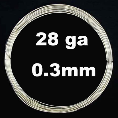 Sterling Silver Wire - 28 ga -0.3mm (Sold Per 6 Feet)