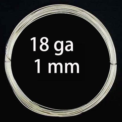 Sterling Silver Wire - 18 Gauge, half hard  (sold by foot)