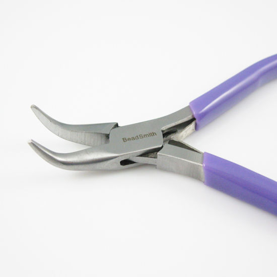 Bead Buddy Professional Quality Bent Chain Nose Pliers w// Spring Crafting Tools