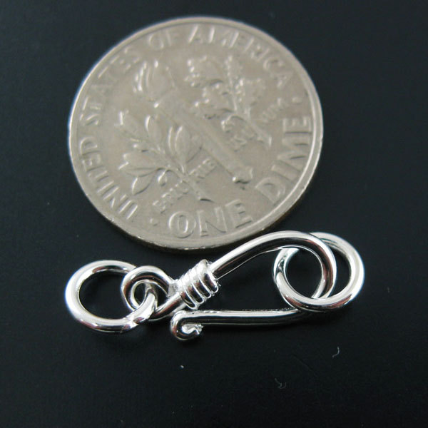 Sterling Silver Hook Clasp ( Sold per 2 sets )