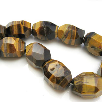 Tiger Eye Nature Stone-Faceted Nuggets 25X18 (sold per strand)