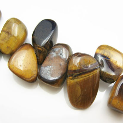 Tiger Eye Nature Stone-Smooth Nuggets 12mm (sold per strand)