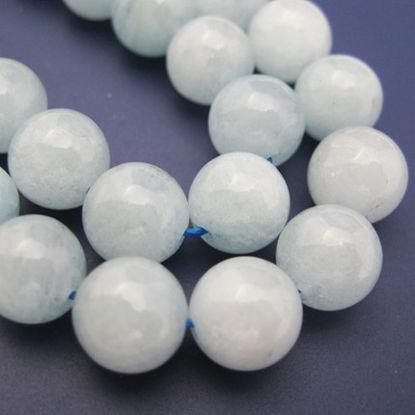 Aquamarine Beads - Nature Stone - Round 9mm (sold per strand)