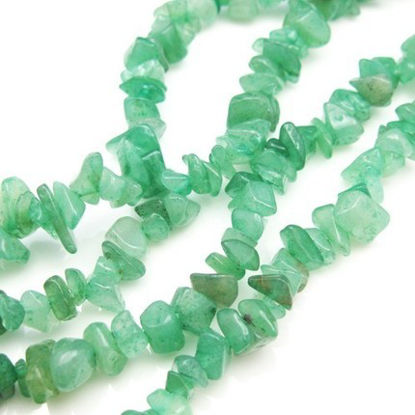 Green Aventurine- Nature Stone - Smooth Chips (sold per strand)