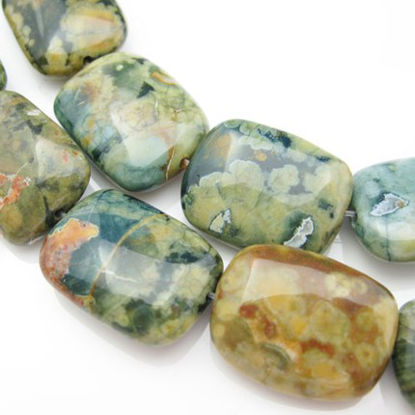 Nature Rainforest Jasper Beads - Square shape (sold per strand)