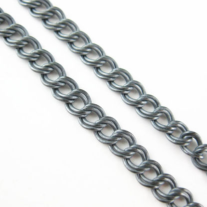 Oxidized Sterling Silver Chain-Double Twisted Oval Cable Oval - 4 by 4.5mm (sold per foot)
