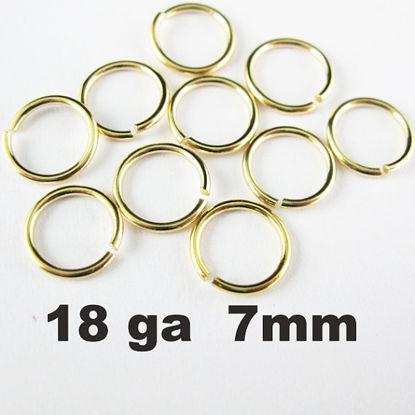 Vermeil Open Jump Rings,18ga,7mm (sold per pkg of 20pcs)