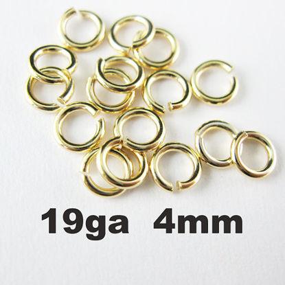 Vermeil Open Jump Rings,19ga,4mm (sold per pkg of 20pcs)
