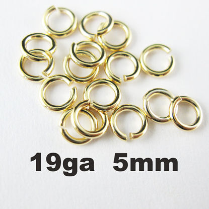 Vermeil Open Jump Rings,19ga,5mm (sold per pkg of 20pcs)