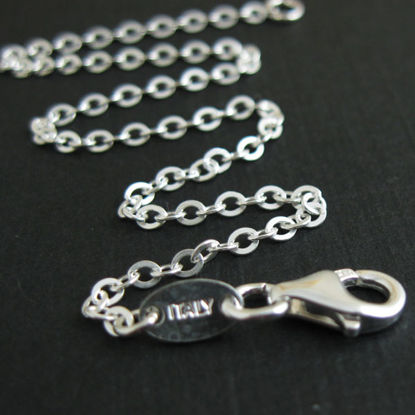 Sterling Silver Necklace Chain - Bracelet Chain - Anklet Chain - 2.3mm Strong Flat Cable -All Sizes