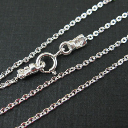 Sterling Silver Necklace - 925 Italian Sterling Silver Necklace Chain - Bracelet Chain - Anklet Chain - Solid Cable Oval -All sizes