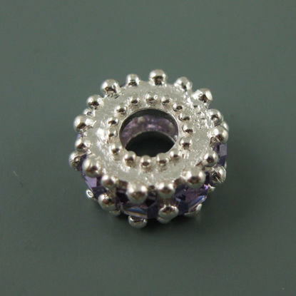 European .925 Sterling Silver Charm Beads CZ Fancy Regal Stones