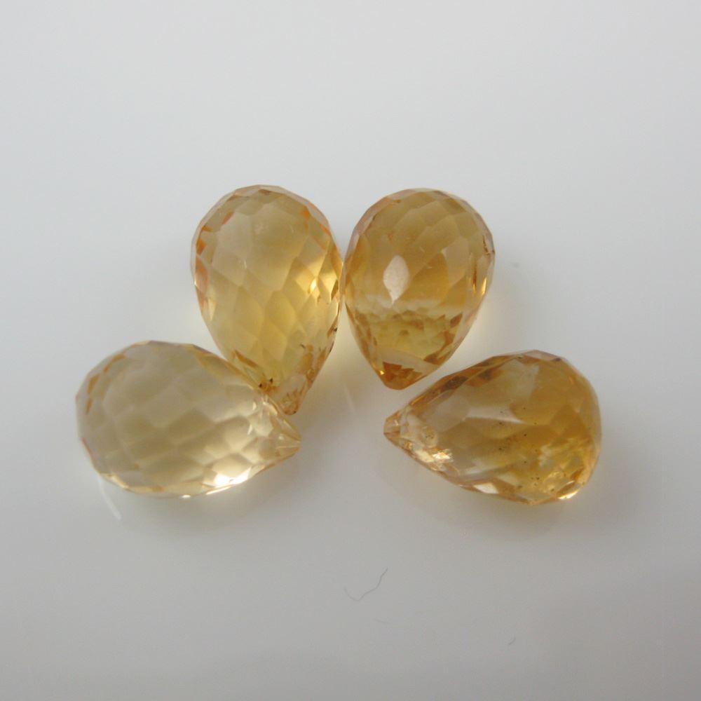 Gemstone Bead Citrine Quartz ( 2 pieces)