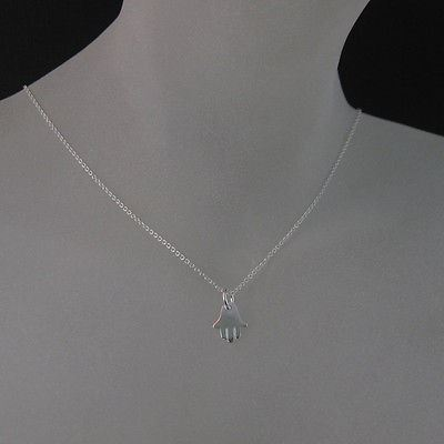 925 Sterling Silver Necklace-Hasma Hand Charm Pendant Necklace (16-24 inch)