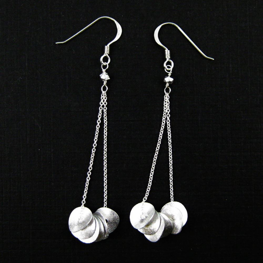 925 Sterling Silver Jewelry Set- Wavy Disc