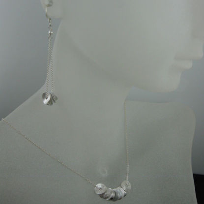 925 Sterling Silver Jewelry Set- Wavy Disc
