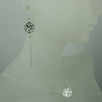 925 Sterling Silver Jewelry Set- Sweet Rose Connector