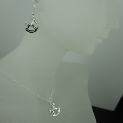 925 Sterling Silver Jewelry Set-Rockinghorse Charm