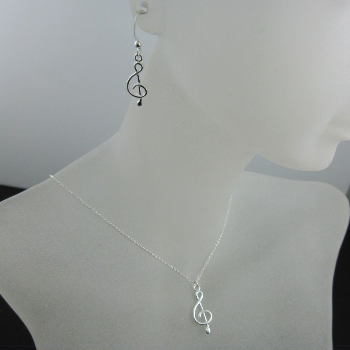 925 Sterling Silver Jewelry Set- Music Note