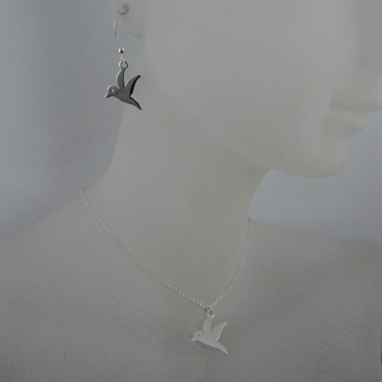 925 Sterling Silver Jewelry Set-Bird Charm