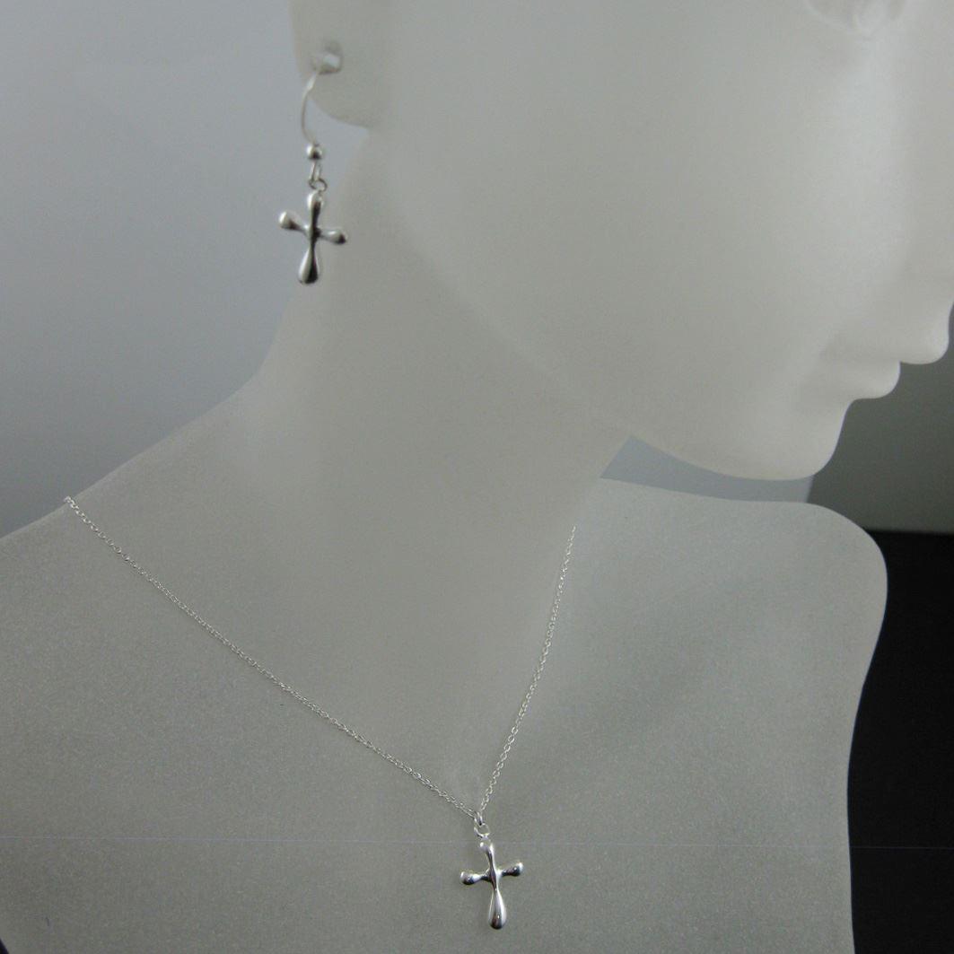 925 Sterling Silver Jewelry Set- Fancy Cross