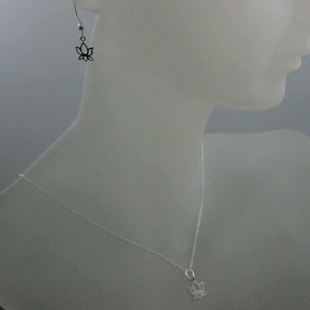 925 Sterling Silver Jewelry Set- Lotus Flower