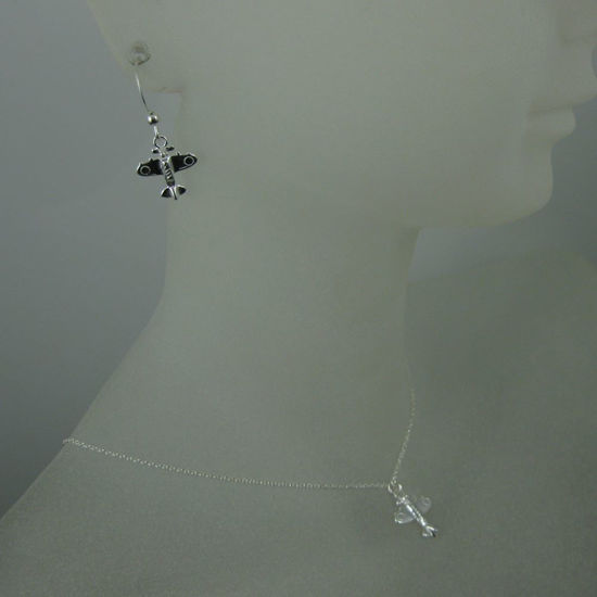 925 Sterling Silver Jewelry Set- Airplace Charm