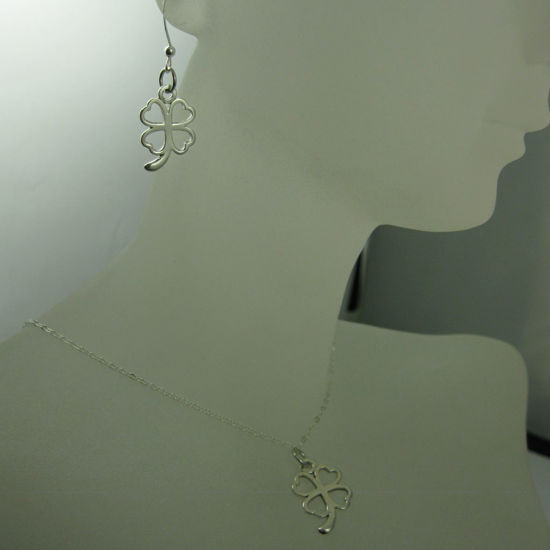 925 Sterling Silver Jewelry Set- Four Leaf Clover