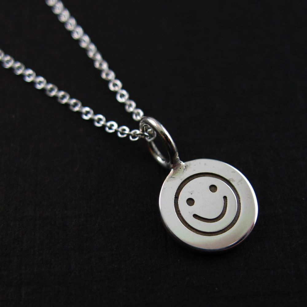 925 Sterling Silver Jewelry Set- Happy Face Charm