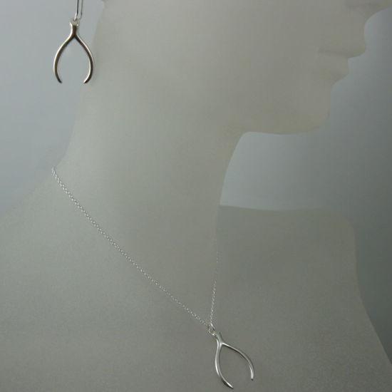 925 Sterling Silver Jewelry Set- Wishbone