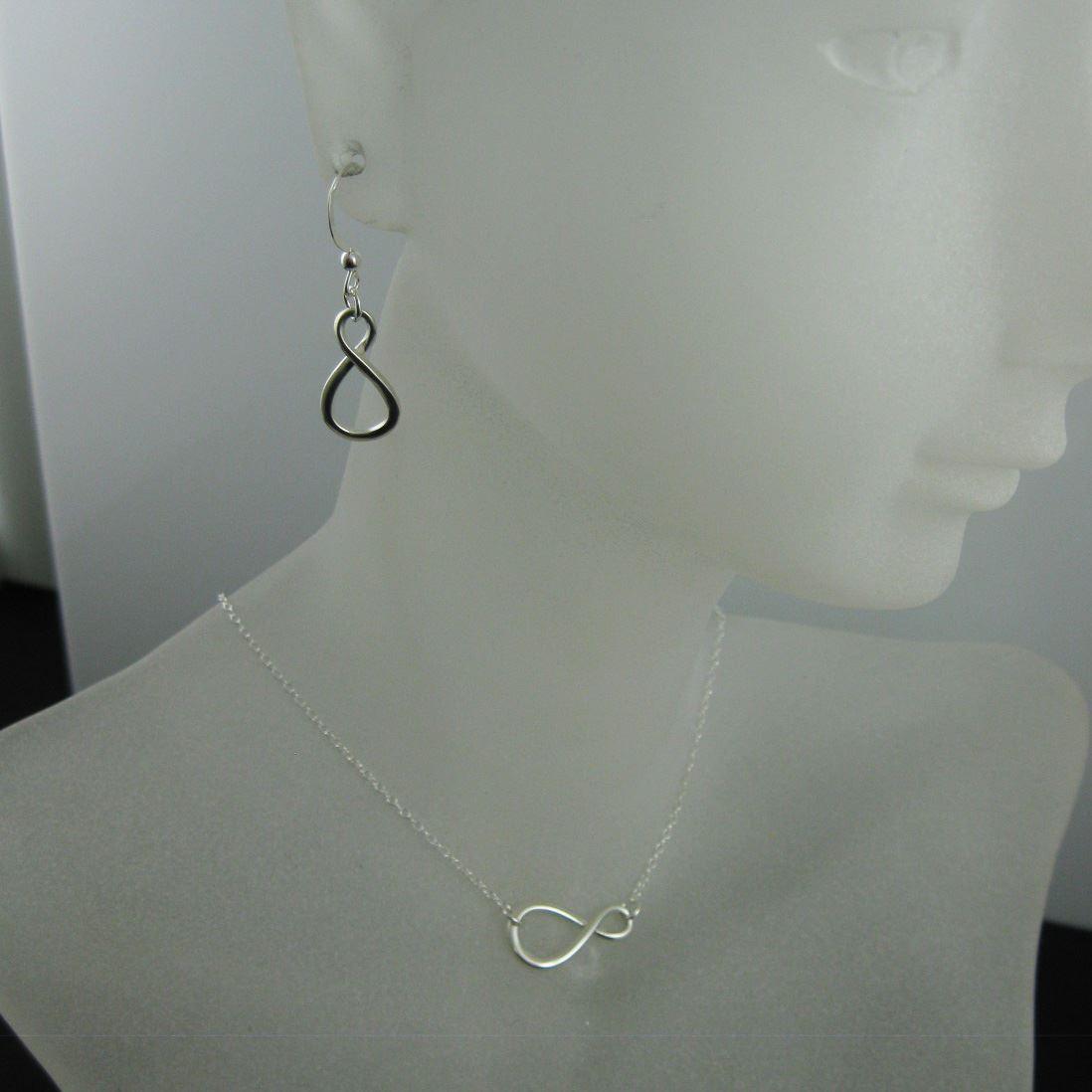 925 Sterling Silver Jewelry Set-Figure 8-Warped Infinity Charm