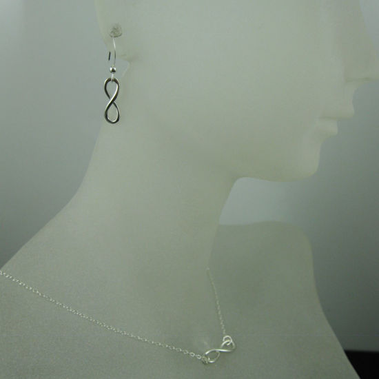 925 Sterling Silver Jewelry Set- Smooth Infinity Charm