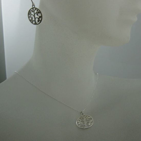 925 Sterling Silver Jewelry Set-Tree with leaves charm