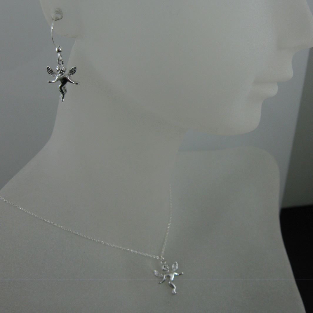 925 Sterling Silver Jewelry Set- Angel Charm