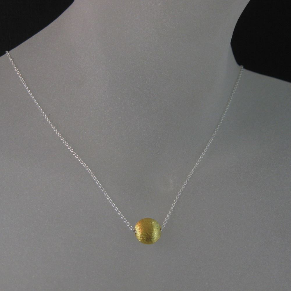 18k Gold plated over Sterling Silver Vermeil Jewelry Set- 8mm Textured Coin