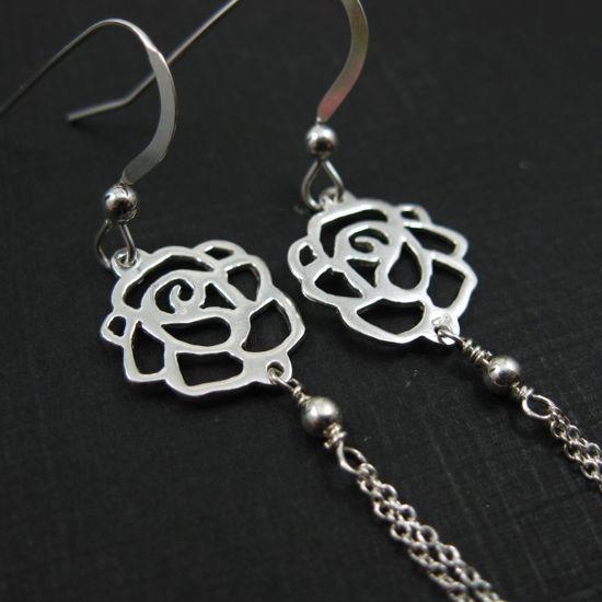 925 Sterling Silver Earrings-Sweet Rose