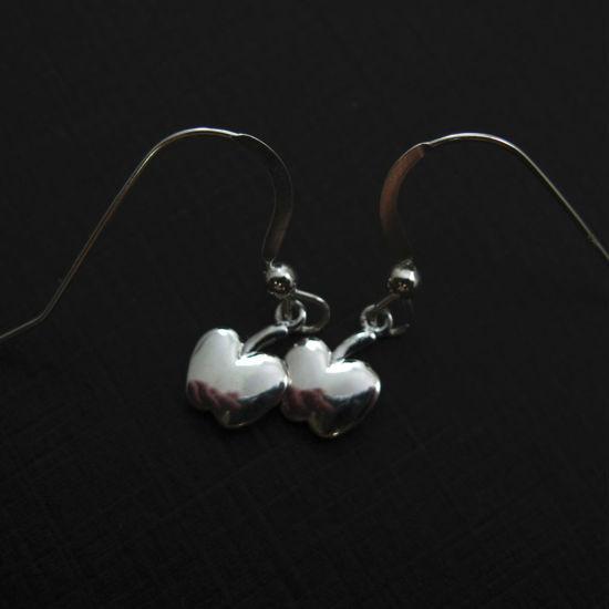 925 Sterling Silver Earrings-Tiny Apple