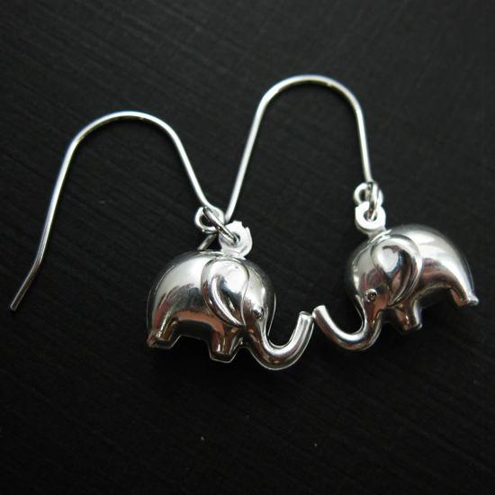 925 Sterling Silver Earrings-Elephant Charm