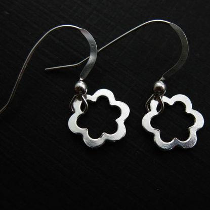 925 Sterling Silver Earrings- Flower Charm