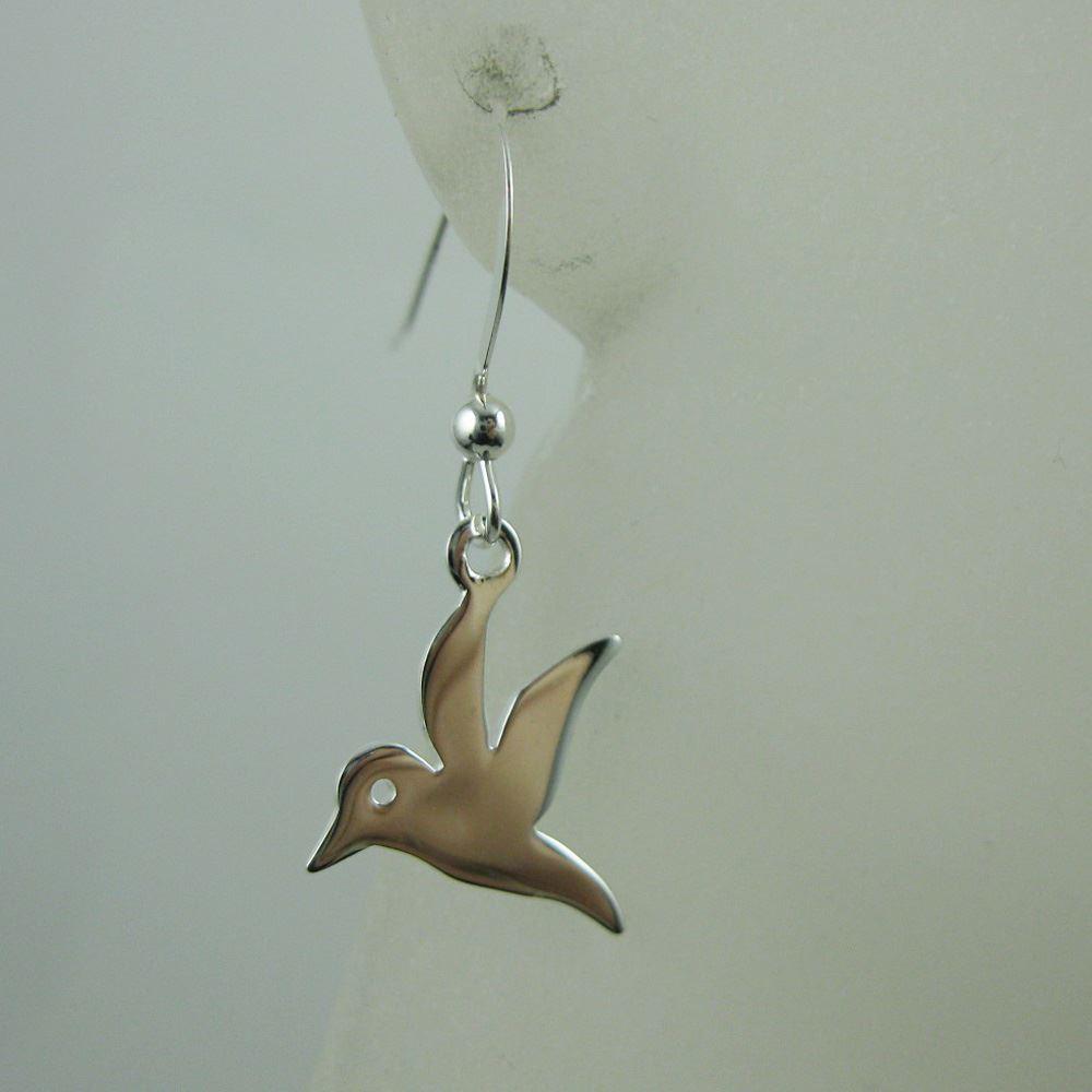 925 Sterling Silver Earrings- Bird Charm